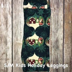 f85114d98fd924 LuLaRoe Kids S/M Christmas Leggings New with Tags
